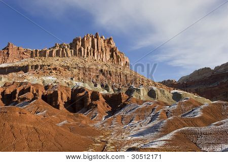 Winter,snow At Capitol Reef N.p.