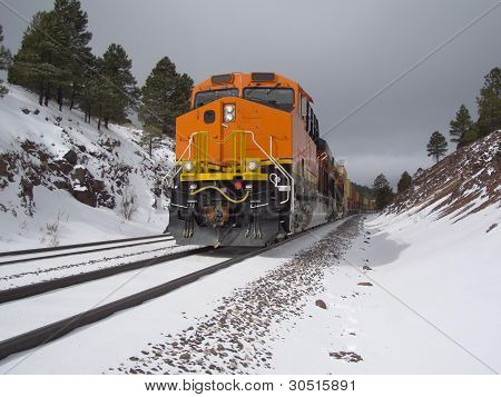 Wintertime railroading