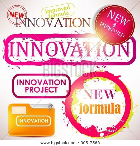 """Tags and stamps """"Innovation"""""""