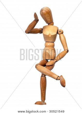Wooden Mannequin Thinking