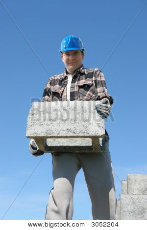 Builder With Shuttering Block
