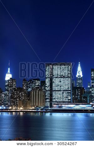 New York City skyline no Night Lights, Midtown Manhattan