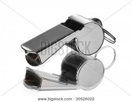 esporte metal whistle isolado no branco