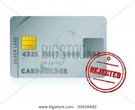 credit card rejected illustration design over white