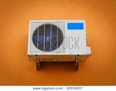 Modern Air Conditioner On Wall