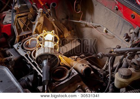Closeup photo of some tools for an automobile