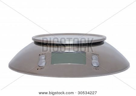 Food Scale Digital Isolated On White Background