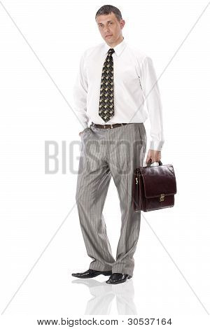 The elegant  businessman
