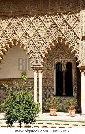 Patio De Las Doncellas In Seville