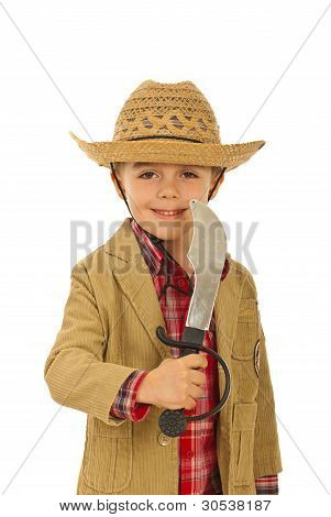 Little Cowboy With Sword