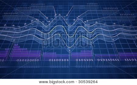 IT analytics, 3D background