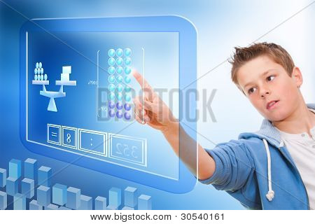 Education With Virtual Blackboard.