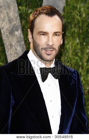 LOS ANGELES - FEB 26:  Tom Ford arrives at the 2012 Vanity Fair Oscar Party  at the Sunset Tower on February 26, 2012 in West Hollywood, CA