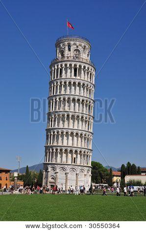 Pisa Italy September 14: Leaning Tower of Pisa on September 14, 2011 in Pisa Italy
