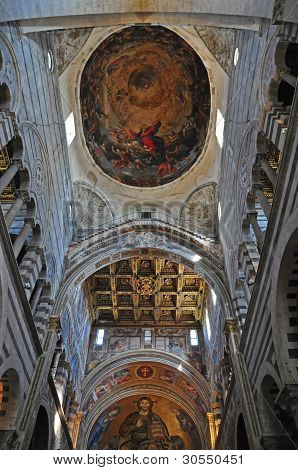 Rich Interior of Basilica, Pisa, Italy