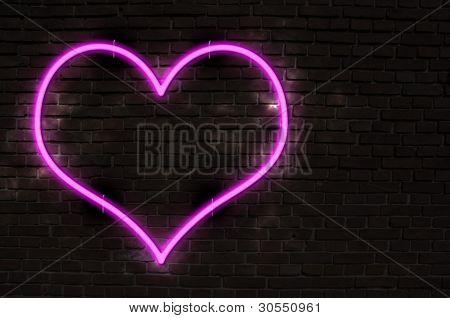 Coração de néon