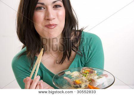Almoço de sushi