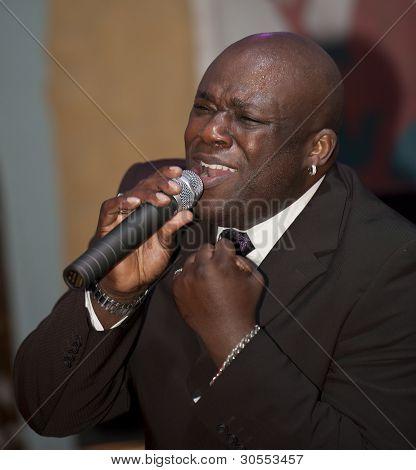 African Man Singing Live