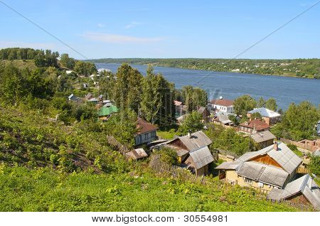 View On The Volga River In Ples, Russia