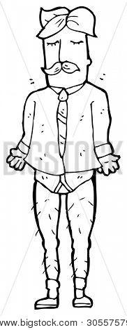 newsreader man in underpants cartoon
