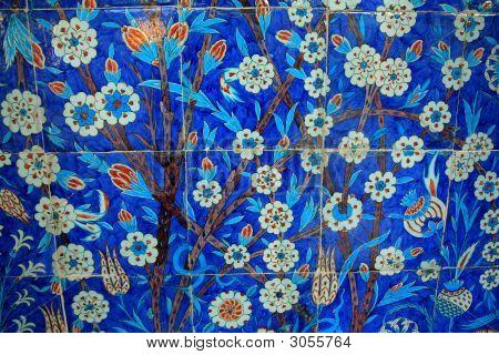 Tiles, Blue Painted Antique