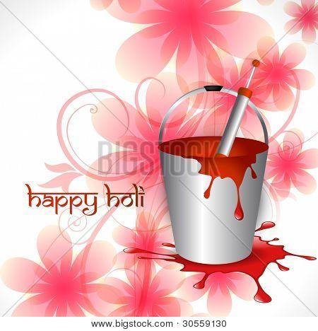 indian holi festival vector illustration