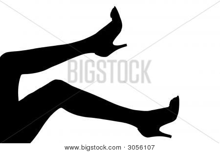 Silhouette Of Womens Legs