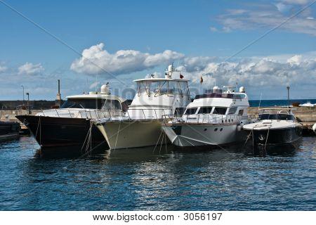 Yachts In Marina Grande, Capri, Italy