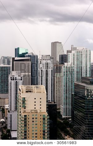 Miami Buildings After A Tropical Storm