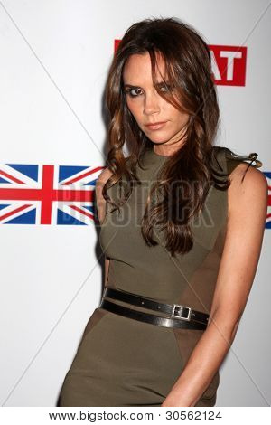 LOS ANGELES - FEB 24:  Victoria Beckham arrives at the GREAT British Film Reception at the British Consul General's Residence on February 24, 2012 in Los Angeles, CA.