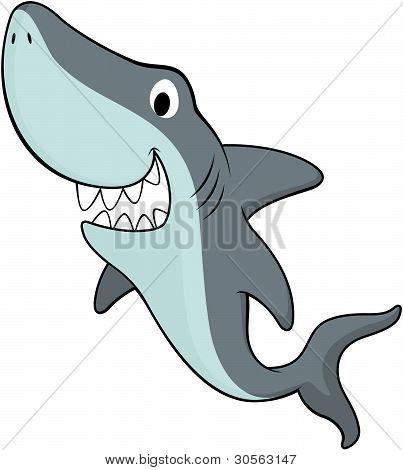 happy friendly shark