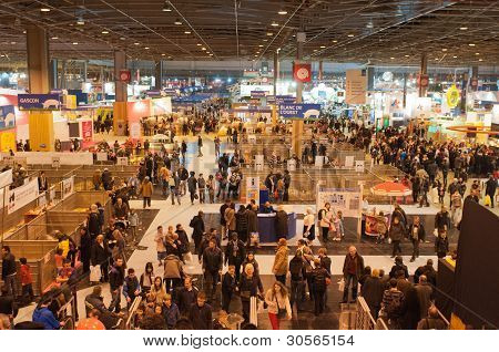 Paris - February 26: Top View Of The Show At The Paris International Agricultural Show 2012 On Febru
