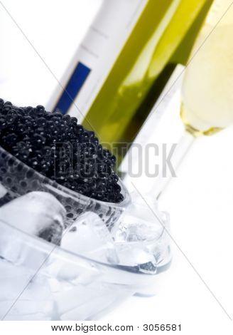 Black Caviar With Wine