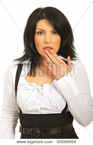 Scared Amazed Woman