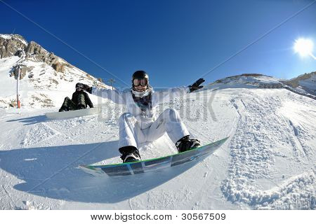 winter woman  ski  sport  fun  travel  snow board