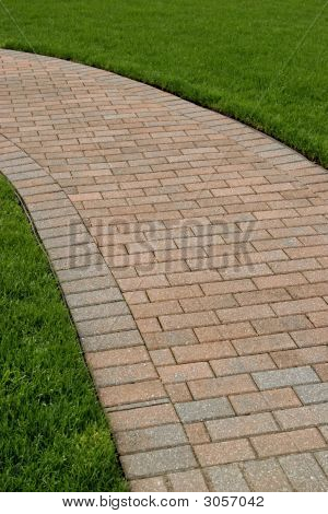 A Perfectly Edged Brick Walkway