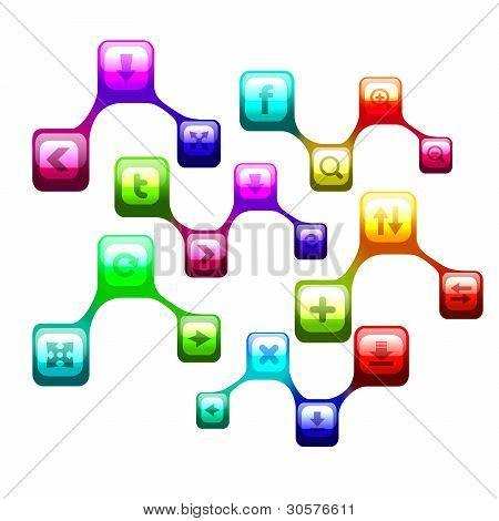 Symbool van sociale netwerk