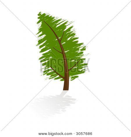 Grunge Tree Icon
