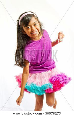Ethnic Little Girl Dancing