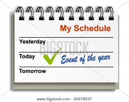 vector tear-off day calendar
