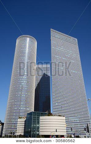 TEL AVIV - FEBRUARY 21: Azrieli Center February 21, 2012 in Tel Aviv, IL. At  187m, the round building is the tallest in Tel Aviv.