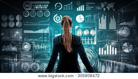 poster of Big Data Technology For Business Finance Concept.