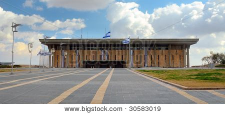 JERUSALEM - FEBRUARY 25: The Knesset February 25, 2012 in Jerusalem, IL. Convened The Knesset passes all laws, elects the President and Prime Minister and supervises the work of the government.