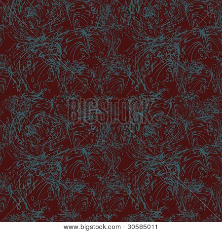 Abstract Seamless Pattern On Maroon Background