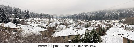 Winter In Residential Suburban City