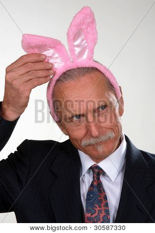 Man Wearing Rabbit Ears