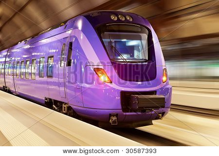 High-Speed-Train with Motion blur