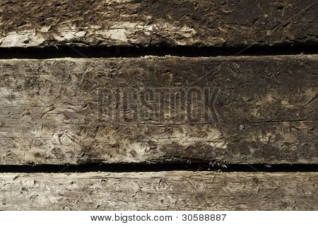 Three Stacked Railroad Ties
