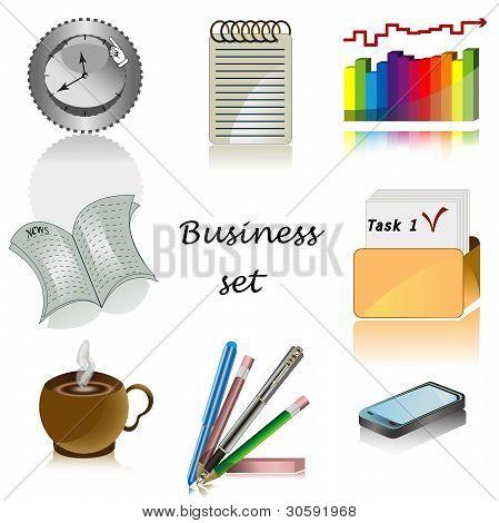 Iconos de negocios para el conjunto de oficinas de Vector