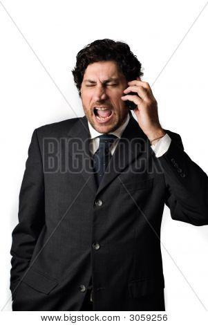 Screaming Business Man